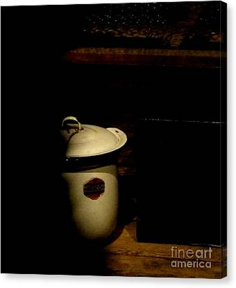Canvas Print featuring the photograph The Chamber Pot by Newel Hunter