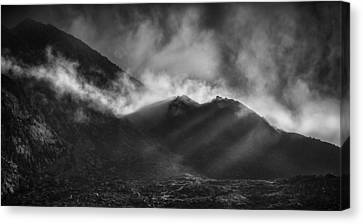 The Chancel In Black And White Canvas Print