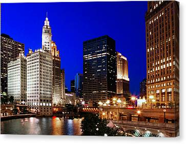 Chicago River Canvas Print - The Chicago River by Rick Berk