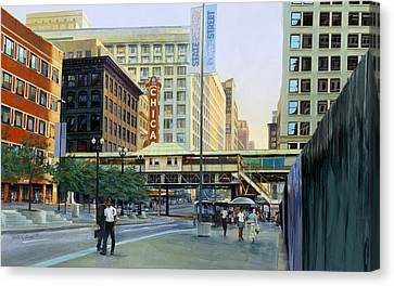 The Chicago Theater Canvas Print by Rick Clubb