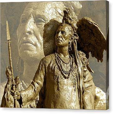 Canvas Print featuring the photograph The Chief by Ginny Schmidt