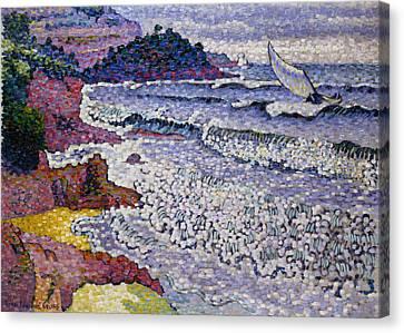 The Choppy Sea Canvas Print by Henri-Edmond Cross
