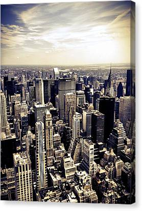 The Chrysler Building And Skyscrapers Of New York City Canvas Print by Vivienne Gucwa