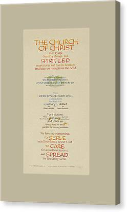 The Church Of Christ In Every Age II Canvas Print by Judy Dodds