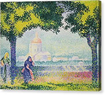 The Church Of Santa Maria Degli Angeli Canvas Print by Henri-Edmond Cross