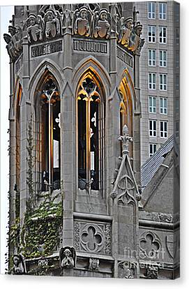 The Church Tower Canvas Print by Mary Machare