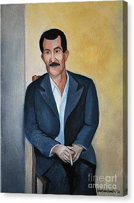 The Cigarette Canvas Print by Kostas Koutsoukanidis