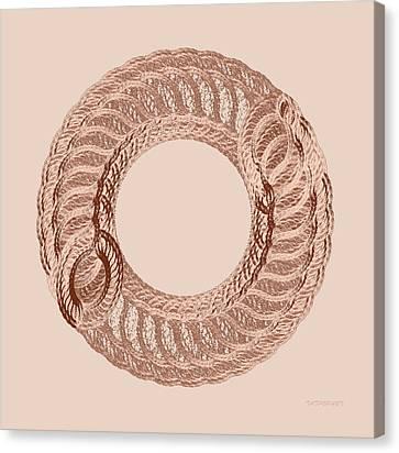 The Circle I Canvas Print by Tatjana Popovska
