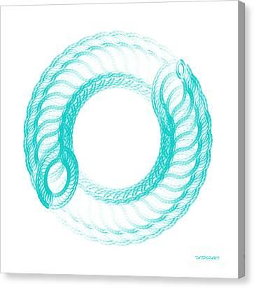 The Circle II Canvas Print by Tatjana Popovska