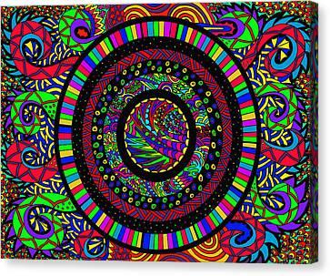 The Circle Canvas Print by Karen Elzinga