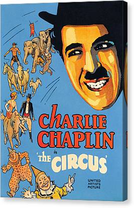 The Circus, Charlie Chaplin, 1928 Canvas Print by Everett