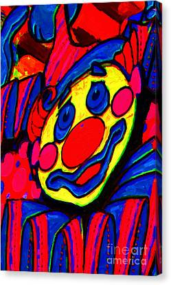 The Circus Circus Clown Canvas Print by Wingsdomain Art and Photography
