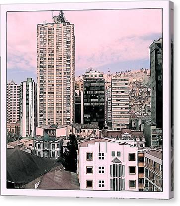 The City Of La Paz Canvas Print