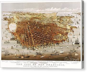 The City Of San Francisco Canvas Print by Pg Reproductions