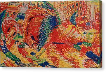 The City Rises Canvas Print by Umberto Boccioni