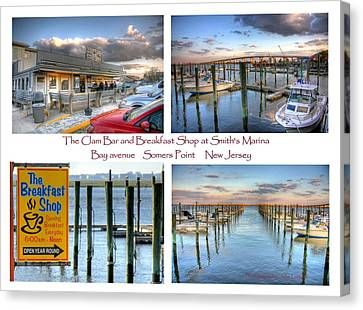 The Clam Bar And Breakfast Shop Canvas Print