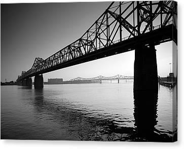 The Clark Memorial Bridge II Canvas Print by Steven Ainsworth