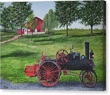 Gravel Road Canvas Print - The Clemens Farm by Vicky Path