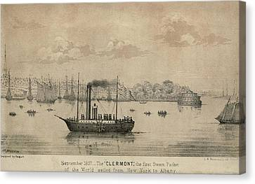 The Clermont Robert Fultons First Canvas Print by Everett