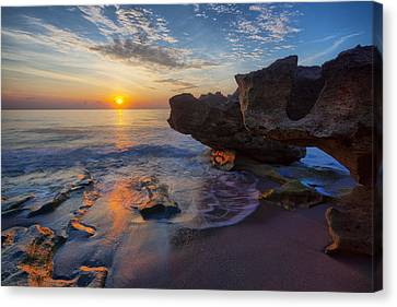 The Cliffs Of Florida Canvas Print by Claudia Domenig