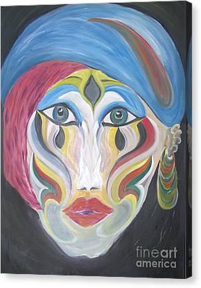 The Clown Within Me Canvas Print by Rachel Carmichael