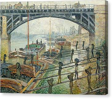 The Coal Workers Canvas Print by Claude Monet
