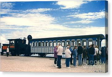 Transportion Canvas Print - The Cog Railway by Donna Brown