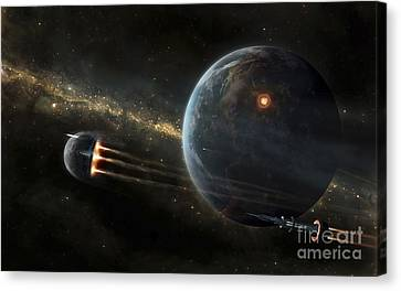 The Colonized Moon Is Escaping Canvas Print by Tobias Roetsch