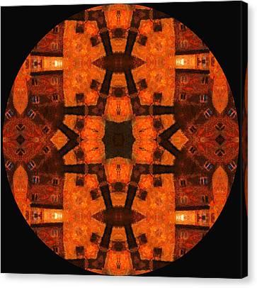 The Color Orange Mandala Abstract Canvas Print by Georgiana Romanovna