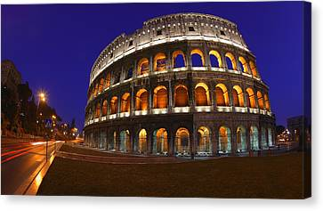 The Colosseum In Rome, Italy Canvas Print by Carson Ganci