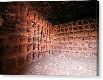 The Columbarium, Al Habis, Petra Canvas Print by Joe & Clair Carnegie / Libyan Soup