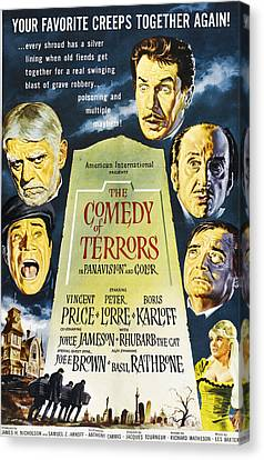 The Comedy Of Terrors, Clockwise Canvas Print by Everett