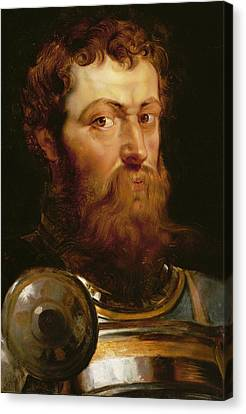 The Commander's Head  Canvas Print by Peter Paul Rubens