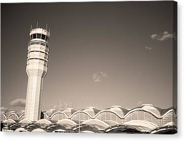 The Control Tower And Canvas Print by Stephen Alvarez