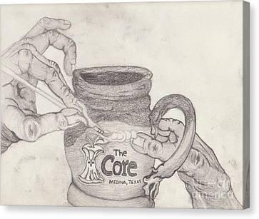 The Core Mug Canvas Print by TK Mayfield