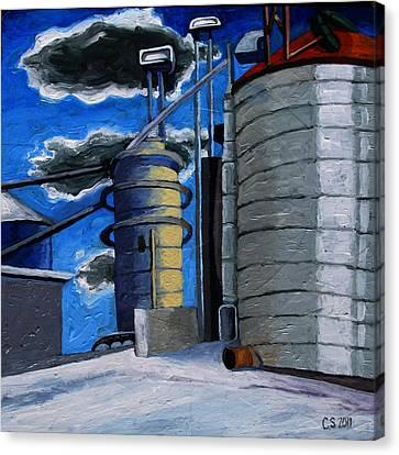 The Corn Machine Canvas Print by Charlie Spear