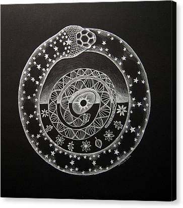 The Cosmic Serpent Canvas Print by Janelle Schneider