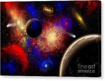 The Cosmos Is A Place Of Outstanding Canvas Print by Mark Stevenson