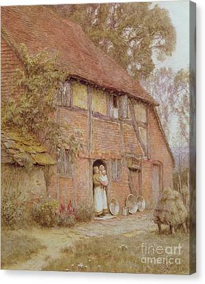 The Cottage With Beehives Canvas Print