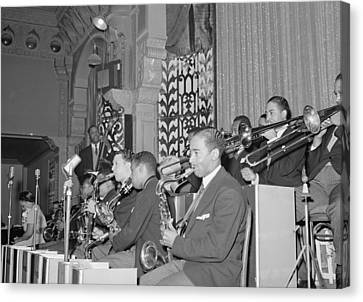 The Count Basie Orchestra At The Savoy Canvas Print by Everett
