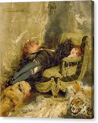 The Courtesan  Canvas Print by Jan van Beers
