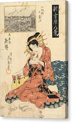 The Courtesan Tamagushi Of Tamaya Canvas Print by Padre Art