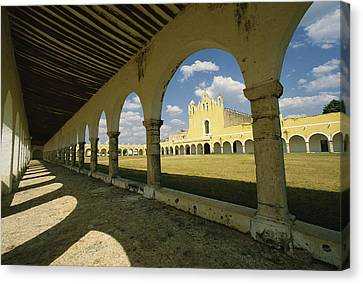 The Courtyard Of The Great Monastery Canvas Print by Martin Gray