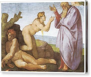 The Creation Of Eve Canvas Print by Michelangelo Buonarroti