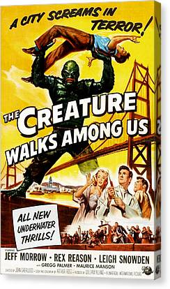 The Creature Walks Among Us, Don Canvas Print by Everett