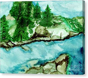 The Creek Bend Canvas Print by Marsha Heiken