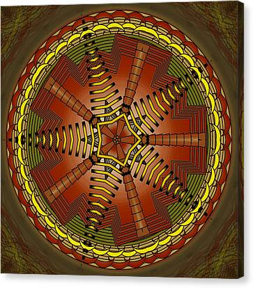 Canvas Print featuring the digital art The Crescents And Wiry Star by Mario Carini