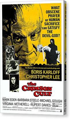 Horror Fantasy Movies Canvas Print - The Crimson Cult, Aka The Crimson Altar by Everett