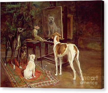 Greyhound Canvas Print - The Critics by A Vimar