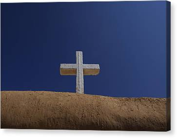 The Cross Above Saint Francis Catholic Canvas Print by Raul Touzon